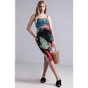 Bahama Mama midi skirt and crop top set